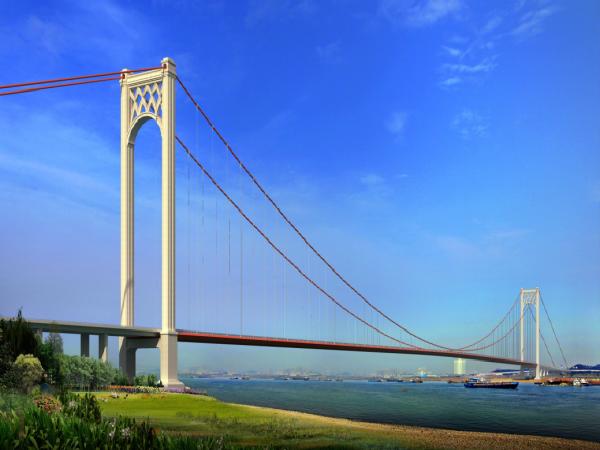 [湖北]单跨钢箱梁地锚式悬索长江大桥施工组织设计(234页)