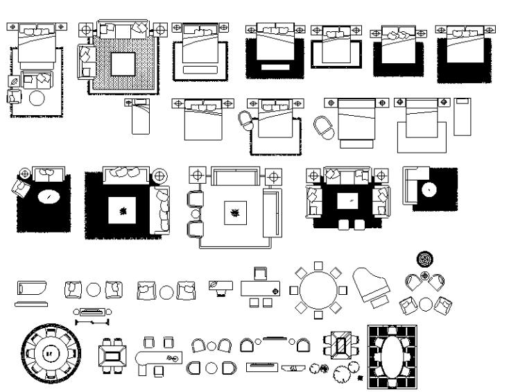u型楼梯cad图块资料下载-邱德光图库室内CAD图块