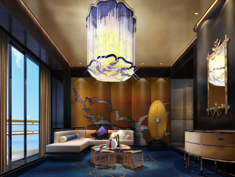 [海南]三亚美丽之冠七星酒店空间设计方案文本
