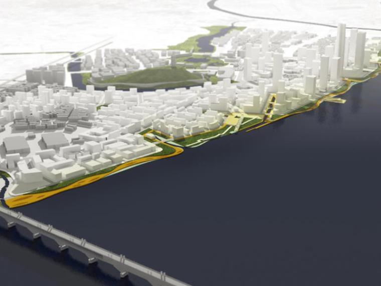 [南京]SOM下关滨江项目城市设计竞赛方案高清大图