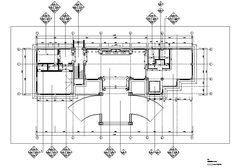 天润曲轴天福山会议中心办公空间设计施工图(附效果图)