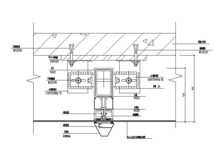玻璃幕墙及铝合金型材节点详图(CAD,10张)