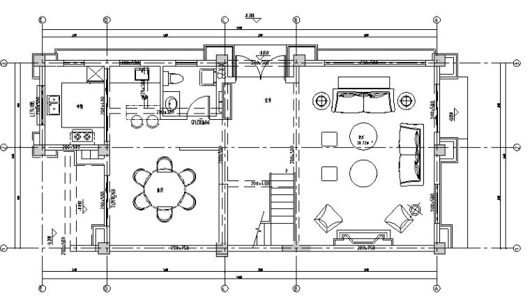 [四川]塞纳尔河浪漫奢华摩登新古典别墅设计施工图(附效果图)