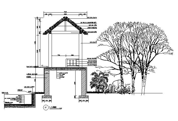 亭廊花架--CAD施工图图集(200个CAD)
