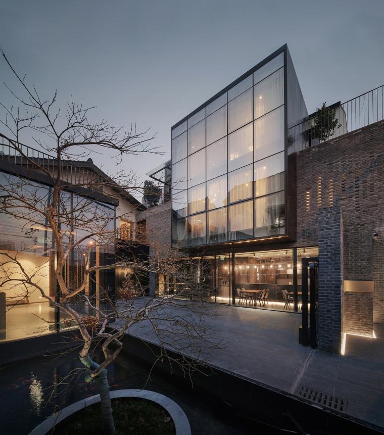 上海原招待所改造的新中式渝舍印象酒店外部实景图 (3)