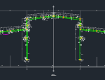单层高低跨钢结构厂房施工图