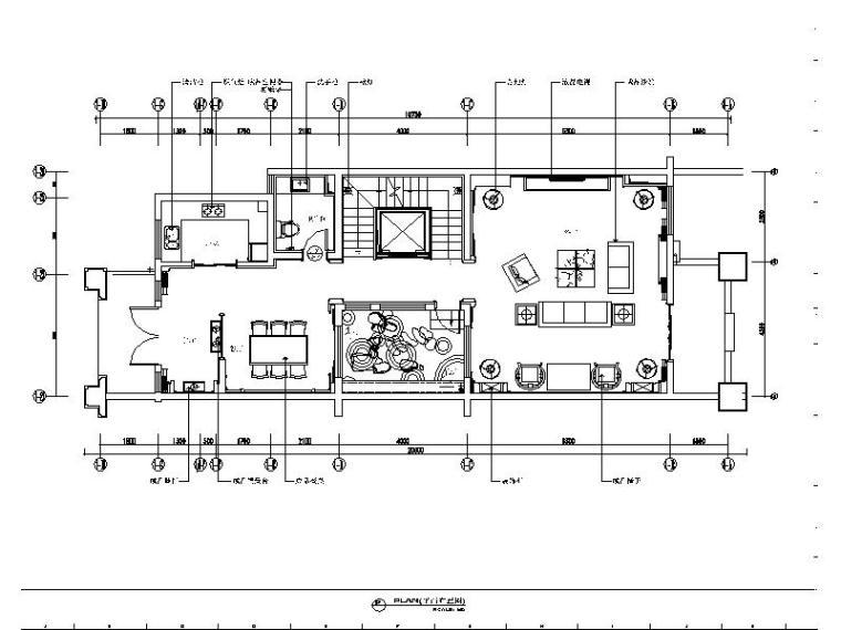 [张家港]现代新中式禅意样板房设计施工图(含效果图)