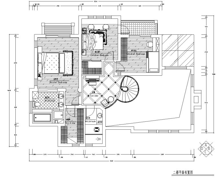 [陕西]某欧式风格别墅装修施工图及效果图