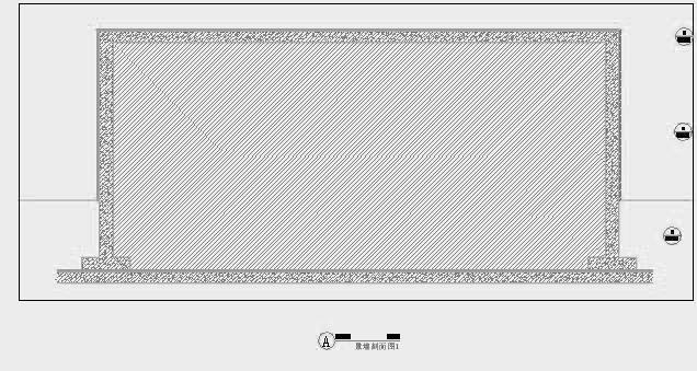 四川成都金色海蓉景观设计施工图-设计详图景墙剖面图2