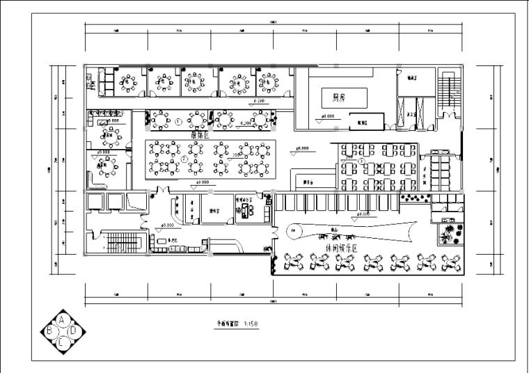 某古典风格中餐厅装修施工图(含20张图纸)