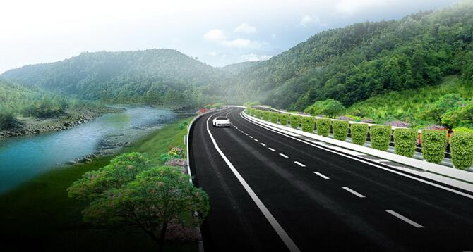 低山丘陵区13km双向四车道高速公路工程实施性施工组织设计213页(路桥隧涵)-道路建设效果