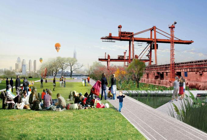 [上海]工业特色滨江生态水岸休闲绿带景观规划设计方案(国际竞赛方案)