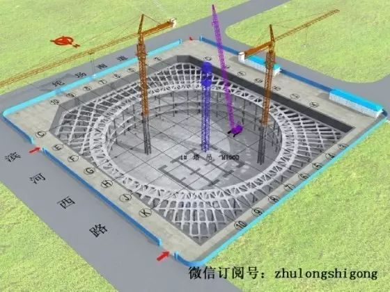 框架结构酒店式公寓资料下载-超高层地标建筑施工总体流程图(三维演示图)
