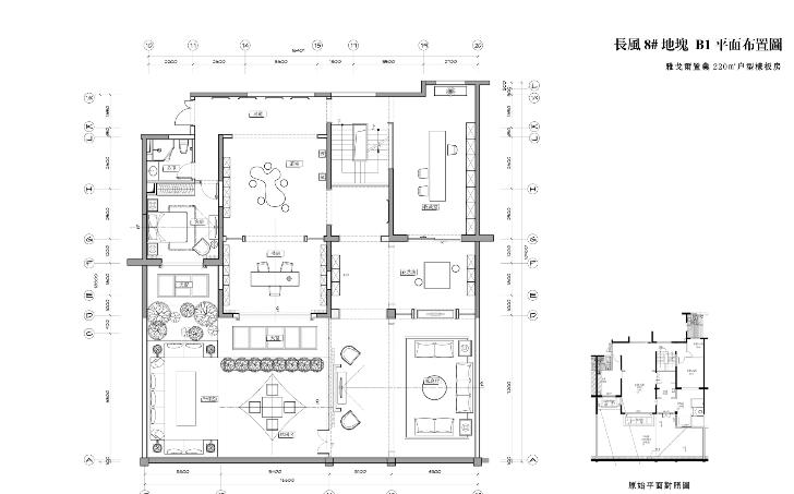 厚夫设计-雅戈尔地产样板间及复式概念方案及施工图(53张)