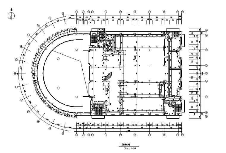 [山东]现代风格写字楼办公空间设计施工图(附效果图+材料表)