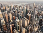 """纽约""""超细圆筒""""摩天楼"""