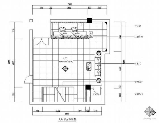 某小型洗浴中心大厅设计图