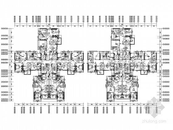 [湖南]知名房产公司大型住宅项目全套电气施工图纸108张(4栋34层住宅,7栋多层,地下室)