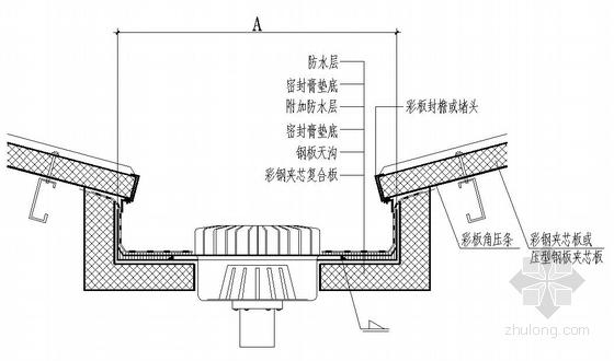 山西某热电厂虹吸式屋面雨水排水系统设计图