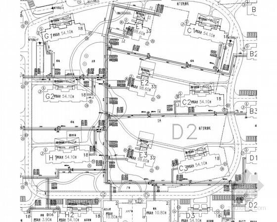 [青海]超高层综合建筑群采暖通风系统施工图(建筑形式多 锅炉房热力系统)