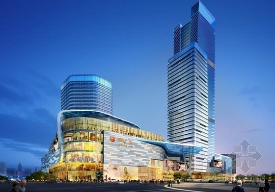 [江苏]现代风格高层商业综合体设计方案文本(知名设计院)-现代风格高层商业综合体设计效果图