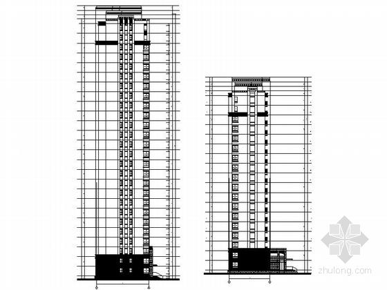 33层现代风格住宅楼立面图