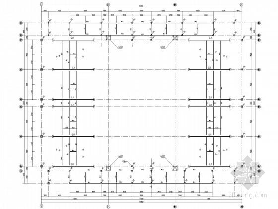 小型体育场钢结构看台结构施工图