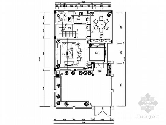 [江西]风景名胜区现代风格三层别墅装修施工图