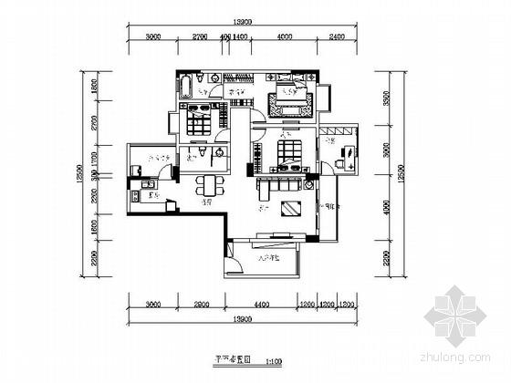 [成都]某小高层简约四室两厅两卫装修图
