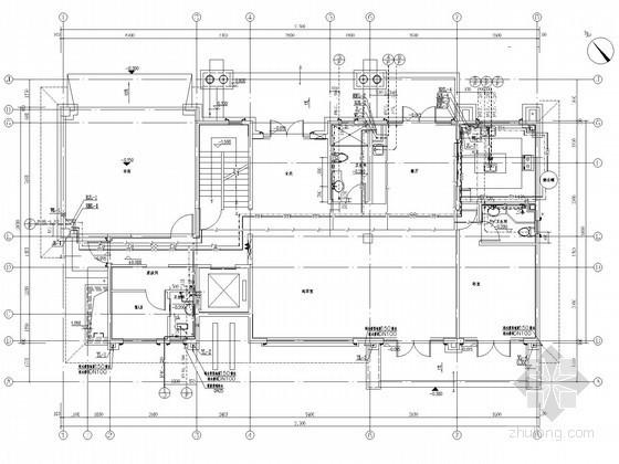 [海口]3层独栋建筑给排水及消防施工图(含热水系统)
