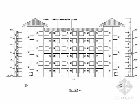 [广东]六层框架结构师范学院宿舍楼建筑结构图