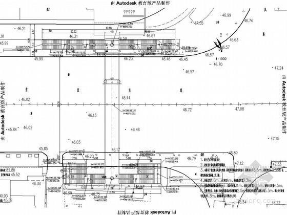 市政道路路口人行天桥施工图全套35张(含顶棚设计)