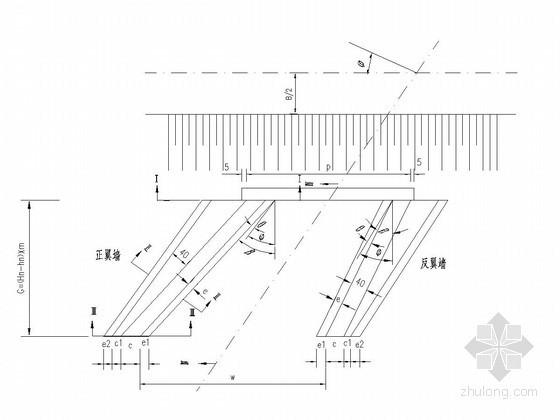 钢筋砼圆管涵斜八字洞口构造图
