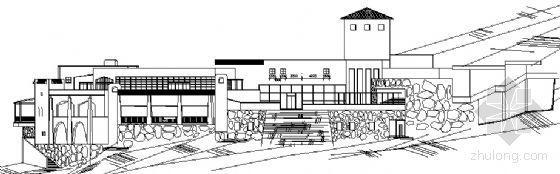某五星级温泉渡假村综合服务中心建筑方案图