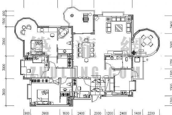 四室两厅三卫装修图