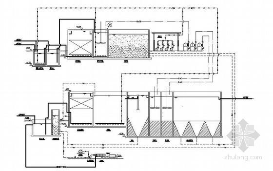 某化工厂污水处理工艺流程图