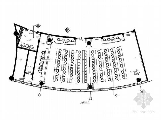 [福建]百人大会议室室内装修施工图