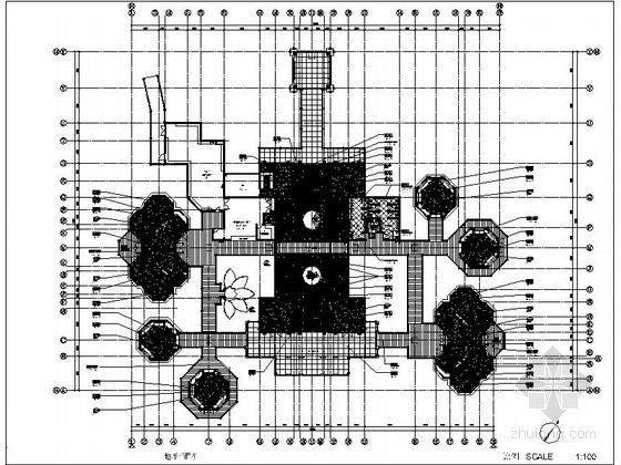 [广东]现代海鲜餐厅室内装修施工图(含效果图)
