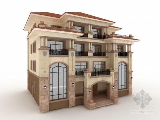 欧式风格豪华别墅3d模型下载