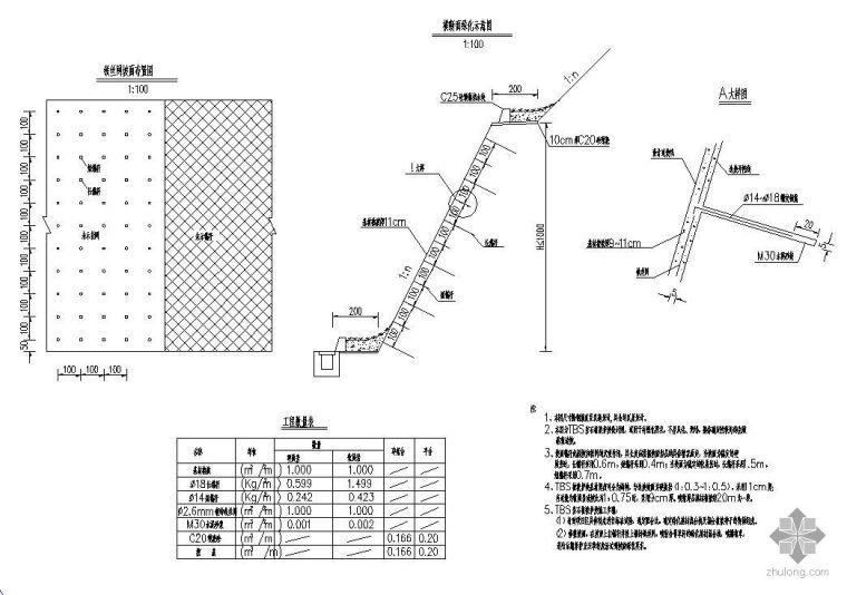TBS岩石植被护坡设计图