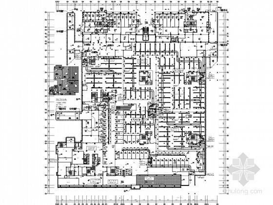 [重庆]广场综合地下室空调通风设计施工图(超市 车库)
