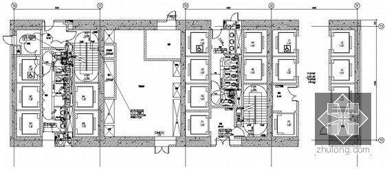 [上海]大型综合商业办公楼暖通空调全套施工图-芯筒平面图
