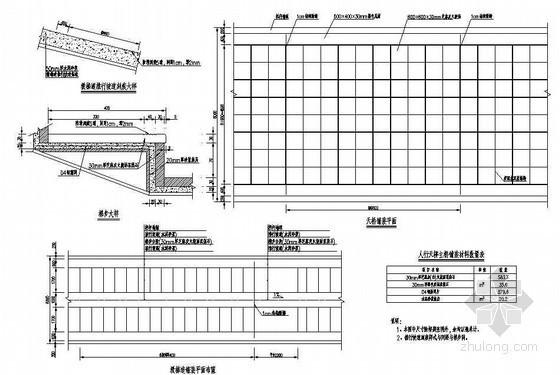 公路人行天桥桥面铺装节点详图设计