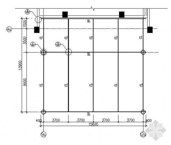某钢结构雨蓬及连廊结构图纸