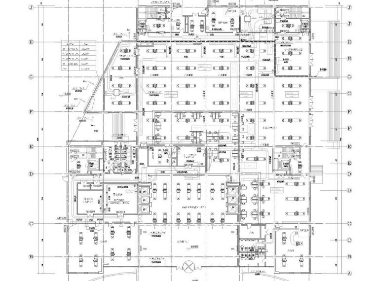 [山东]高层办公建筑空调全系统及人防设计施工图(清华大学设计)