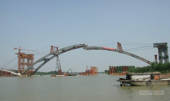 90m预应力钢筋砼系杆拱桥施工方案(78页 附图丰富)
