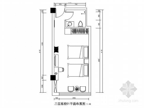 [山东]精装现代风格员工宿舍装修施工图
