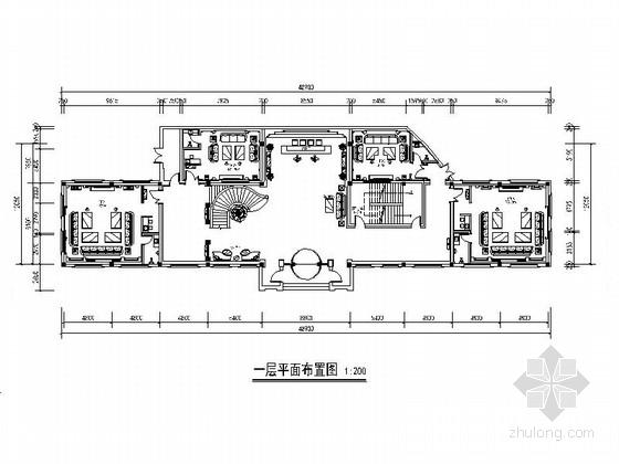 [山東]精裝豪華歐式二層會所裝飾施工圖