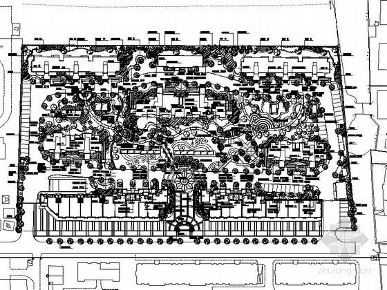 某居住区景观植物种植工程施工图