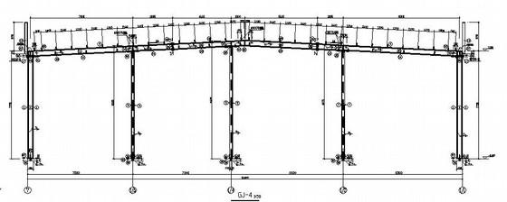 [鸡西]C型冷弯薄壁型钢汽车销售服务店结构施工图
